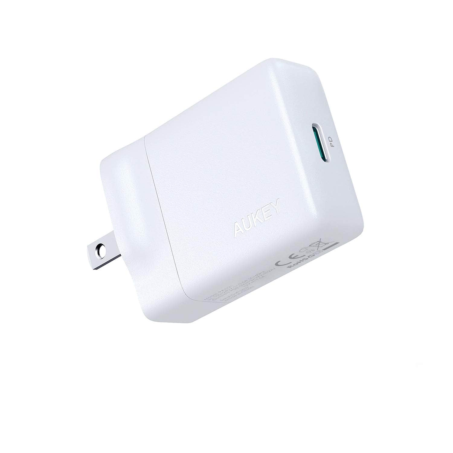 AUKEY USB-C Charger with 27W Power Delivery $13 at amazon
