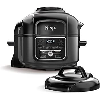 Ninja OP101 Foodi 7-in-1 Pressure, Slow Cooker, Air Fryer and More, 5-Quart, Black/Gray $129