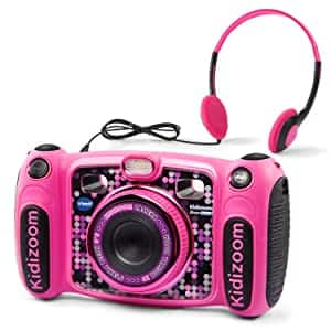 VTech Kidizoom Duo 5.0 Deluxe Digital Selfie Camera with MP3 Player and Headphones, Pink $29.99 @ Amazon