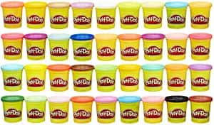 36-Pack Play-Doh Modeling Compound Non-Toxic, Assorted Colors, (3 Oz Cans)