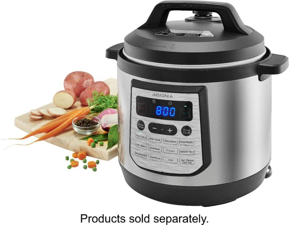 Insignia™ - 8-Quart Multi-Function Pressure Cooker - Stainless Steel $39.99