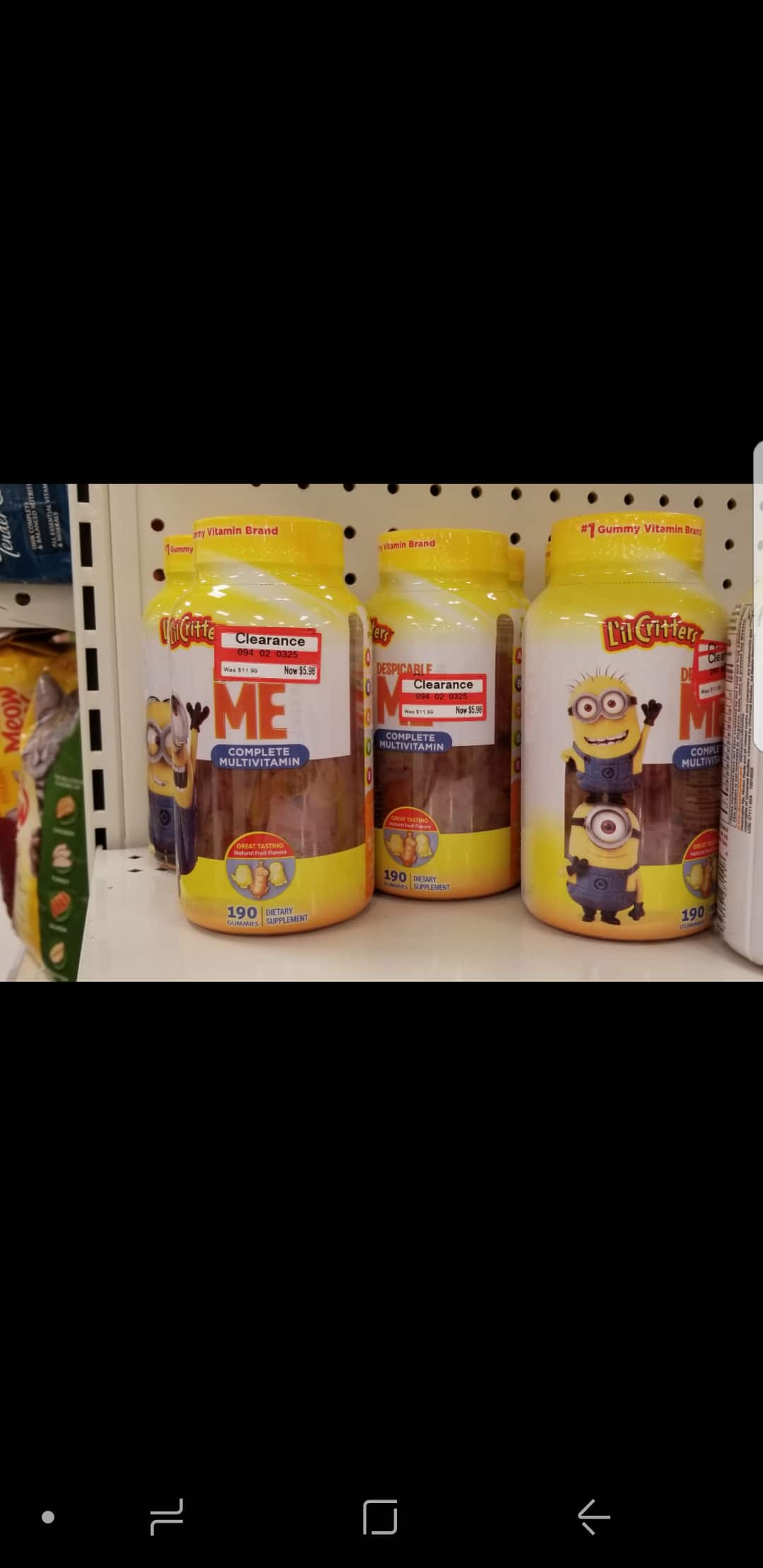 YMMV Target  lil critters kids vitamin Clearance 50% off and plus $5 giftcard if buy 2 $3.5