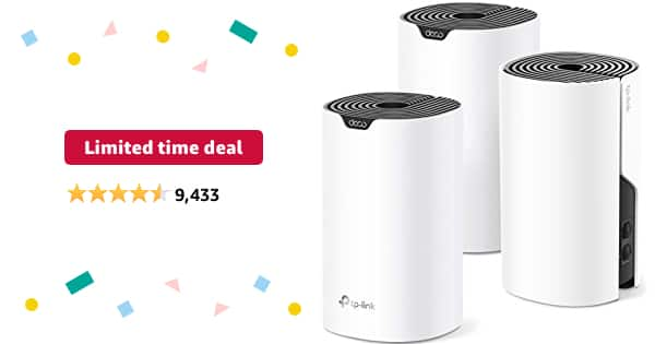 TP-Link Deco Mesh WiFi System (Deco S4), 3 Pack 129.99 - $129.99