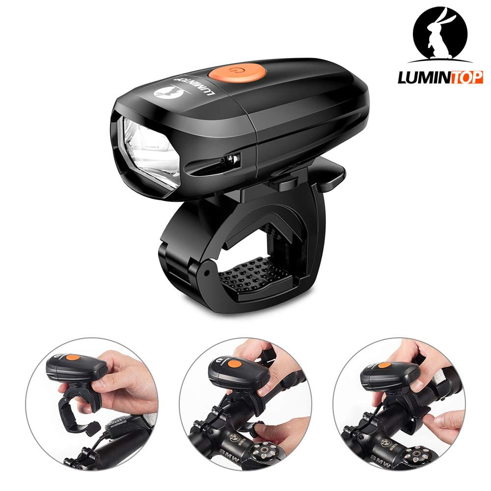 LUMINTOP  400 lumen rechargeable bike headlight.  $9  [clip coupon]
