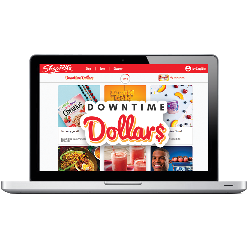 Earn up to a $6 coupon to use at ShopRite with the ShopRite Downtime Dollars Program.  Must have a Shoprite online account.