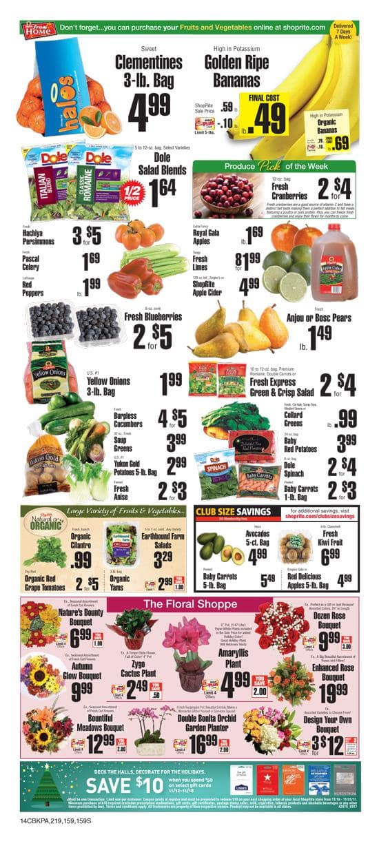 Get a $10 ShopRite Coupon when you buy a $50 Lowes or Home Depot Gift Card at ShopRite thru 11-18 In-store