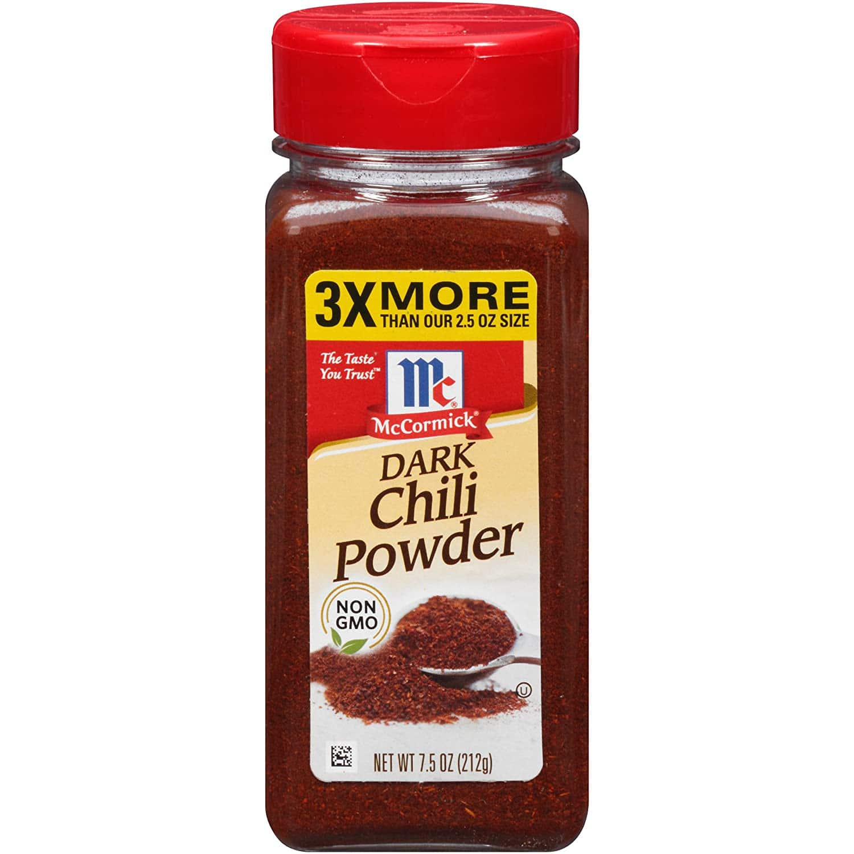 7.5 oz McCormick Dark Chili Powder for $3.72 on Amazon