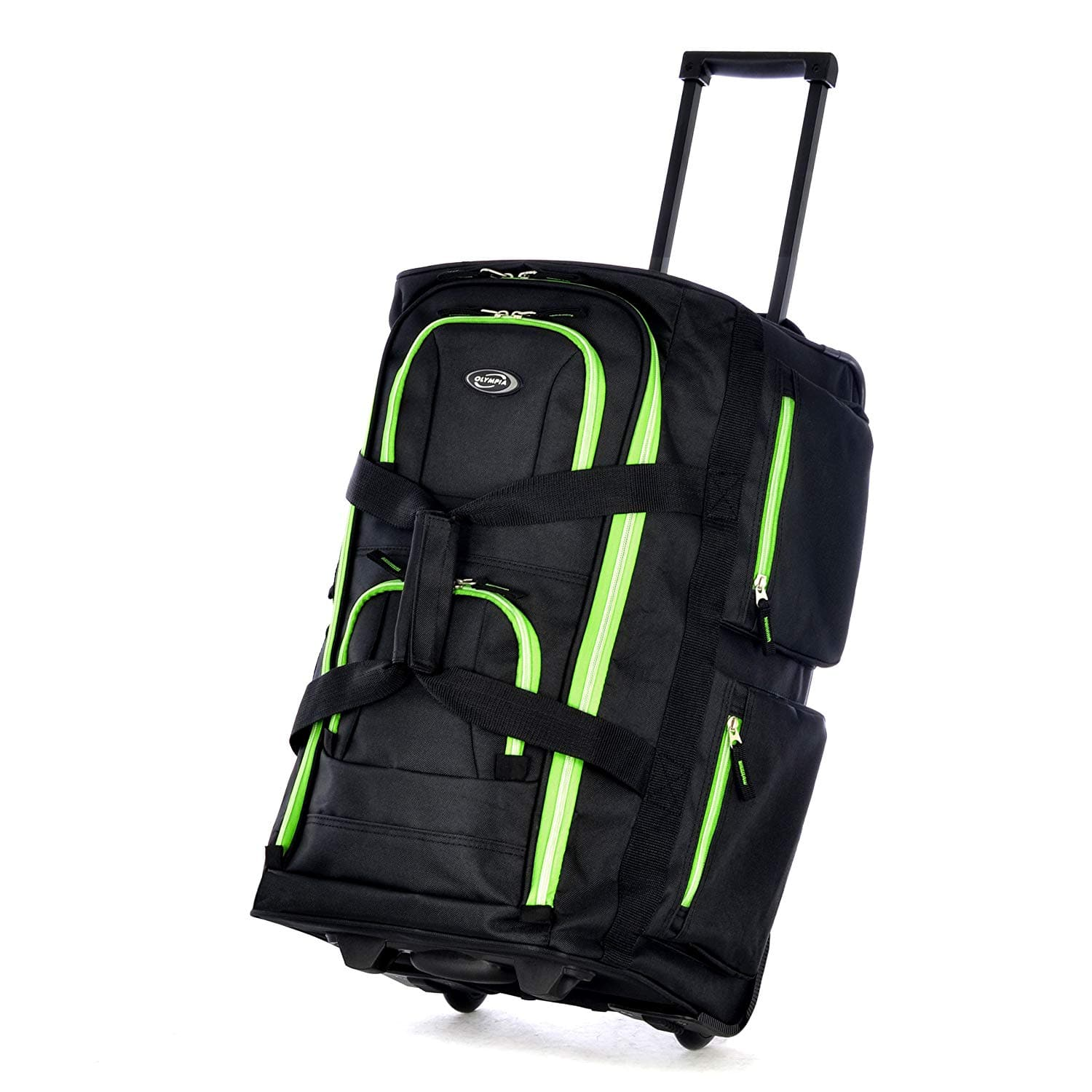 Olympia 22 Inch 8 Pocket Rolling Duffel, One Size, 5 colors available for $19.99 FSSS @ Amazon