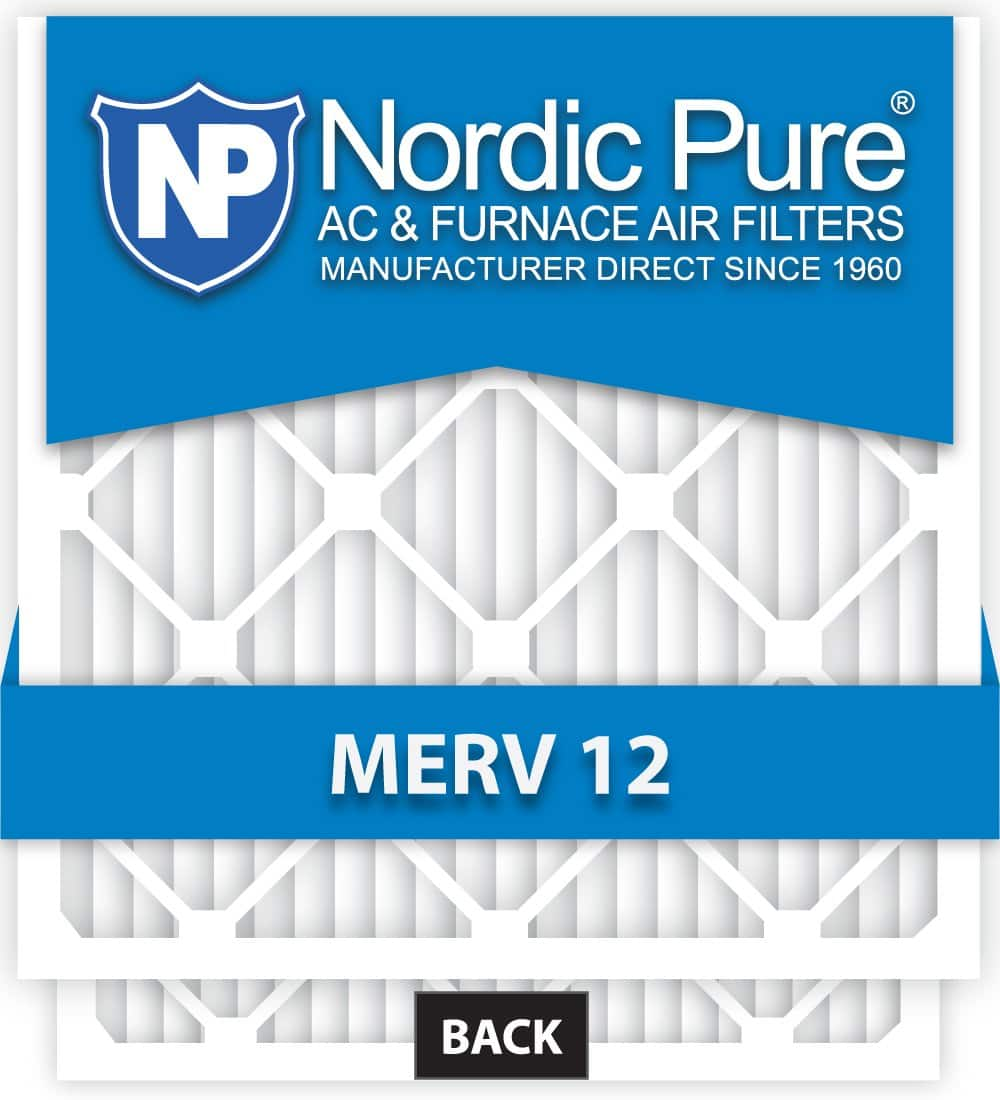 Nordic Pure 16x25x1 M12-12 MERV12 AC Furnace Air Filter, Box of 12 $61.43
