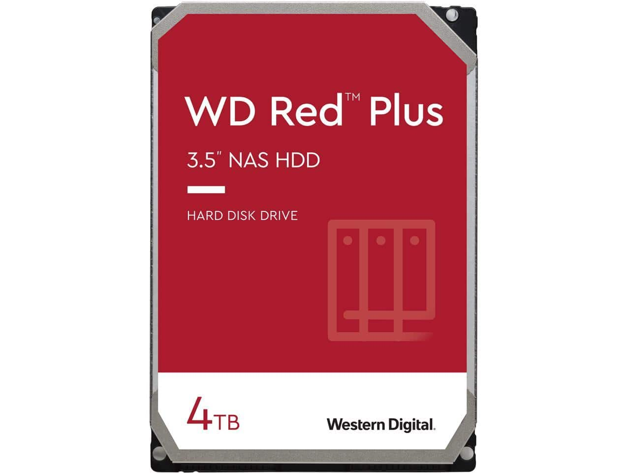 WD 4TB Red Plus NAS HDD $99.99 AC shipped @newegg, 5400 RPM 64MB Cache 3.5 Inch, WD40EFRX