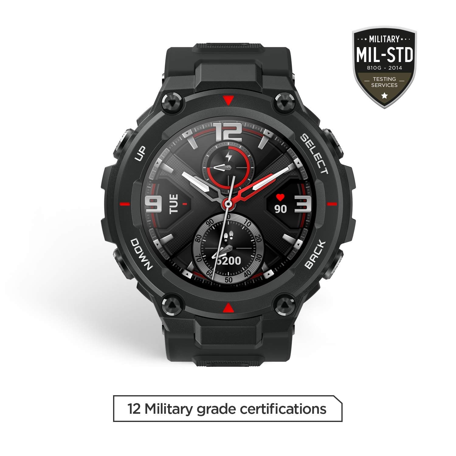 $111.99 shipped Amazfit T-Rex Smartwatch, Military Standard Certified, Tough Body, GPS, 20-Day Battery Life, 1.3'' AMOLED Display, Water Resistant, 14-Sports Modes