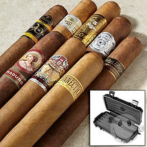 8 cigar combo for $10.00 plus $2.99 shipping from Cigars International. Add travel Herf-a-Dor for $5.00 more.