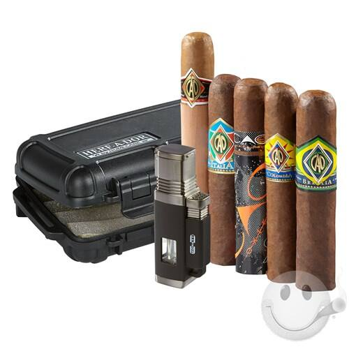 5 CAO cigars, Herf-a-Dor X5 and quad flame lighter $19.99 plus $4.99 shipping Cigars International