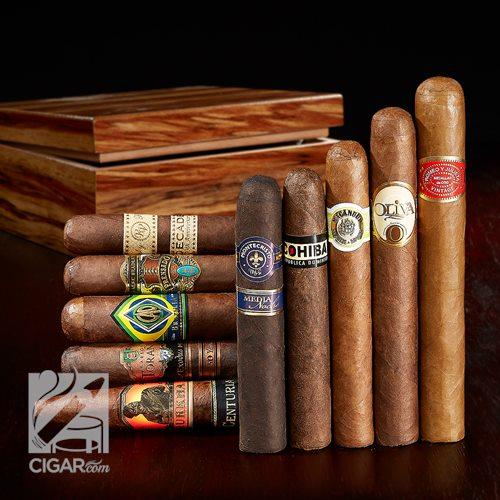 10 cigars and humidor $29.99 plus $4.99 shipping at Cigar.Com