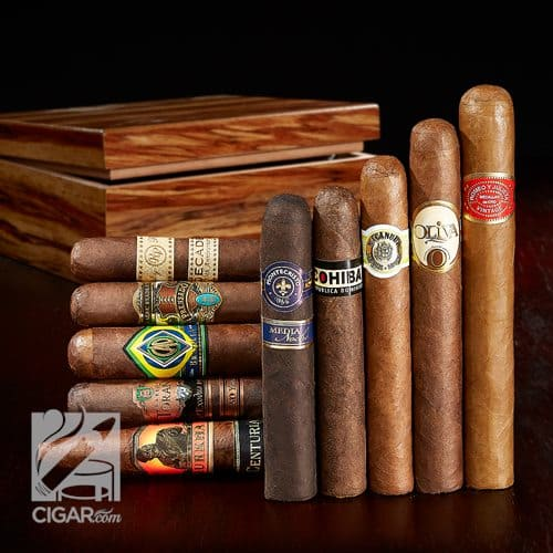 10 cigars and humidor $29.99 plus $4.99 shipping at Cigar.Com