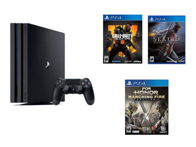 Playstation 4 Pro Console + Sekiro + Call of Duty: Black Ops 4 + For Honor: Marching Fire Edition $399.99 - Newegg