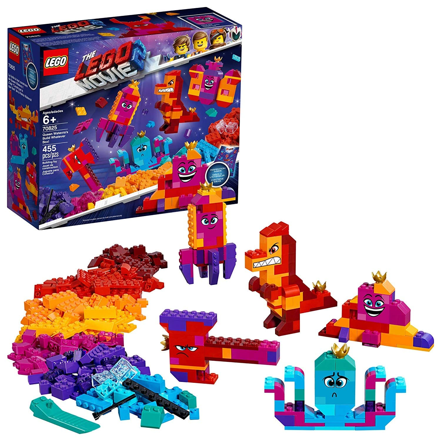 """LEGO 70825 """"The LEGO Movie 2 Queen Watevra's Build Whatever Box!"""" $22.99 at Amazon and Walmart 43% off (reg $39.99)"""