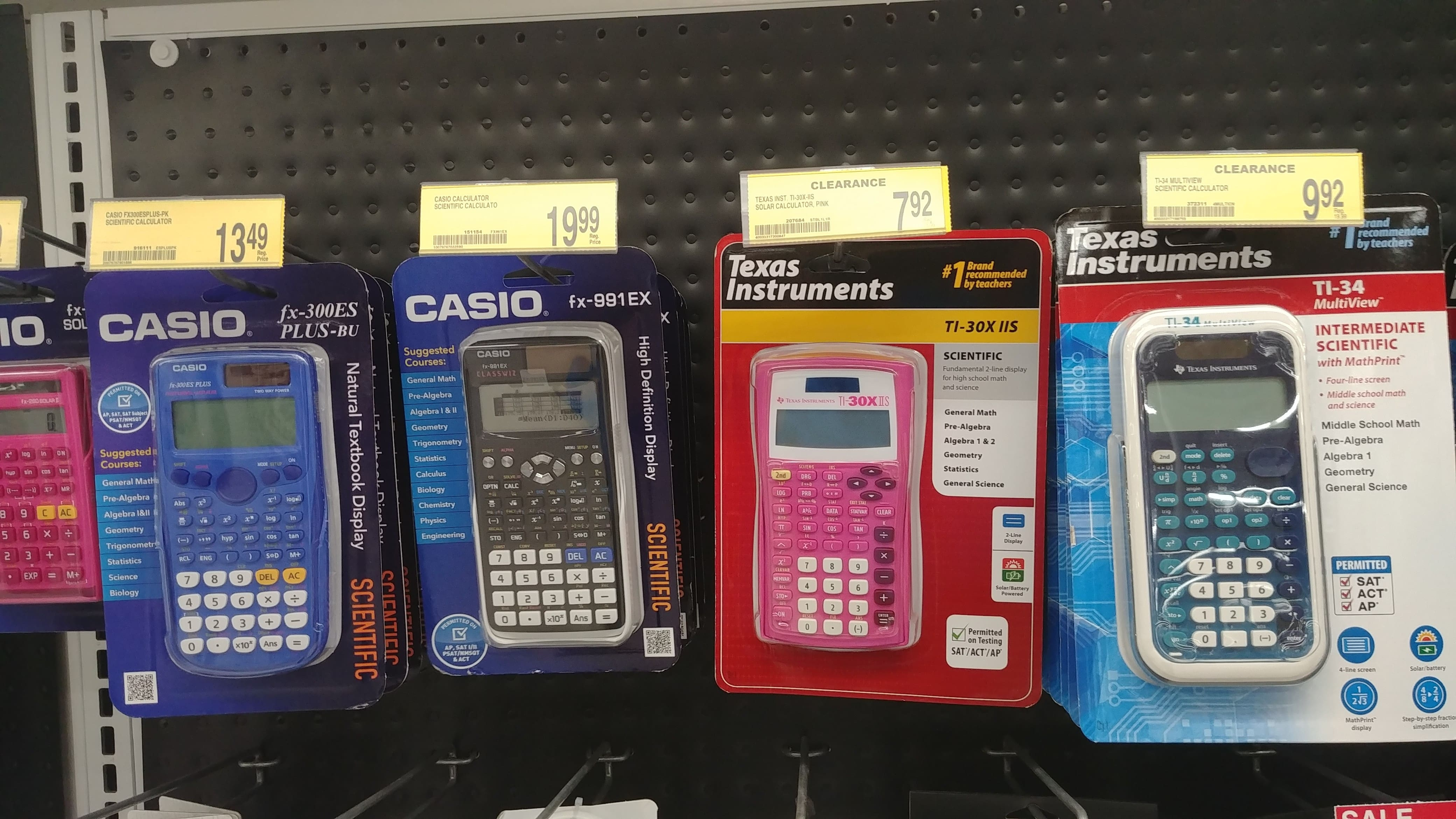 Clearance - Office Depot Fountain Valley, CA - Scientific Calculators $7.92