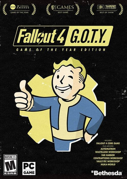 Fallout 4: Game of the year edition pc -steam $7.99
