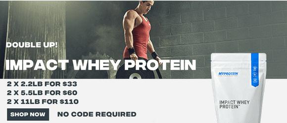 MyProtein Impact Whey Protein Sale $33