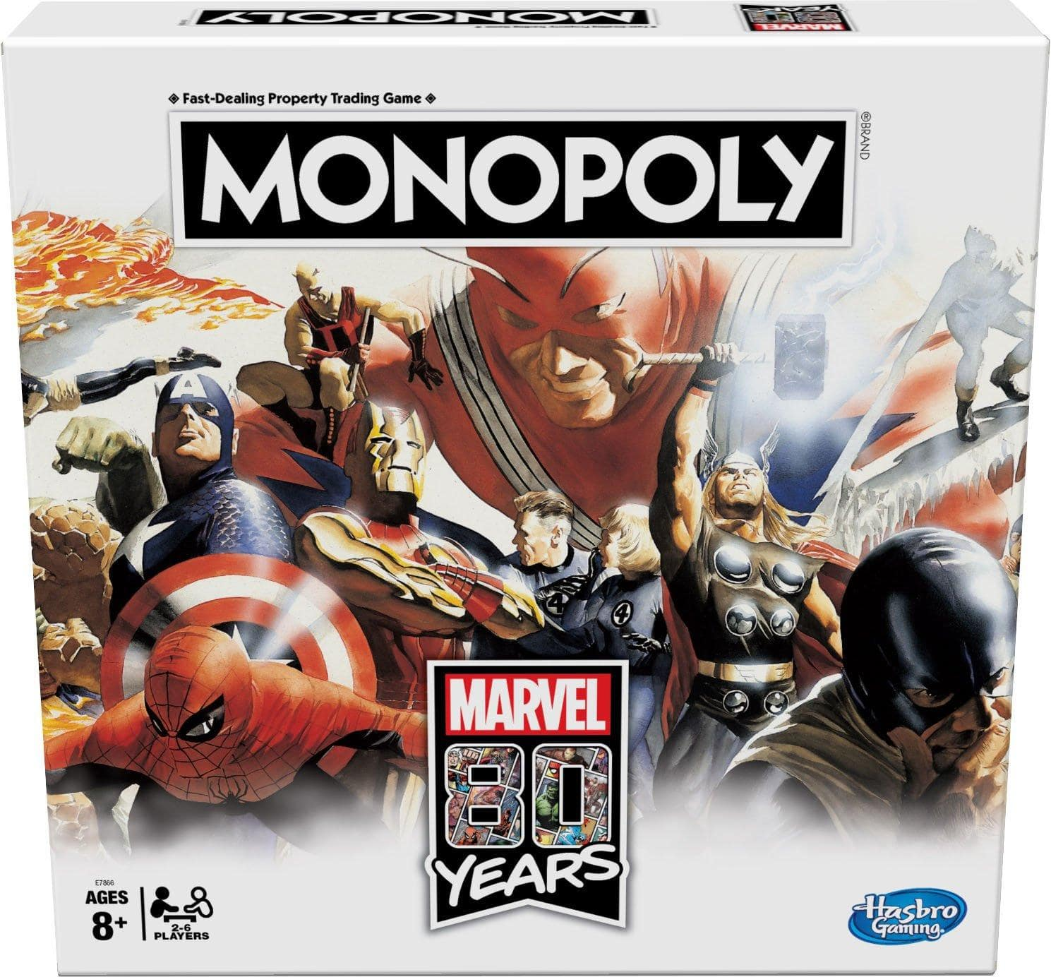 Monopoly Marvel 80 Years Edition Board Game $10 at GameStop
