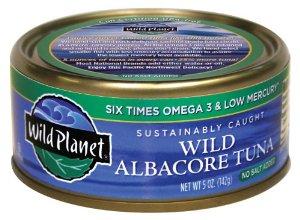 6 cans Wild Planet Wild Albacore Tuna, No Salt Added -- $12.50 w/ FS