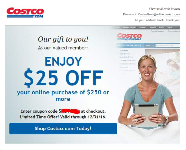 Similar Costco Promo Codes