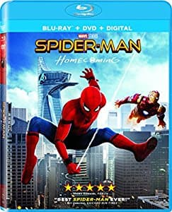 Spiderman homecoming Bluray $7.99 at Amazon (Prime members FS)