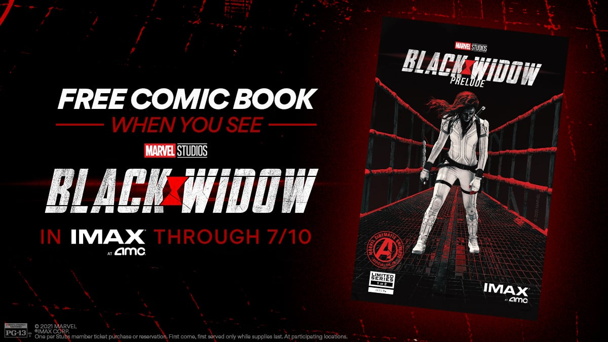 AMC Theatres: Free Comic Book w/ Purchase of Marvel's Black Widow IMAX Movie Ticket (Valid through July 10th)