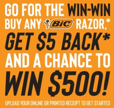 Buy $5+ of BIC Razors, Get $5 Rebate (Visa Virtual Account)