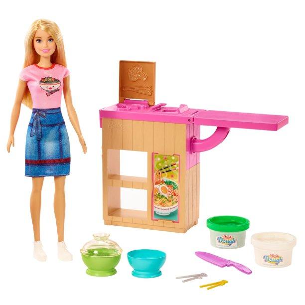 Barbie Noodle Bar Playset w/ Blonde Doll $8.77