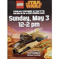Toys R Us Deal: Toys R Us Event - Free LEGO Star Wars Mini Wookiee Gunship on May 3rd (12-2pm). Event intended for children, ages 5 and older.