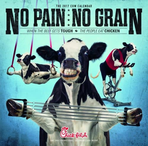 2017 Chick-fil-A Cow Calendars are now available