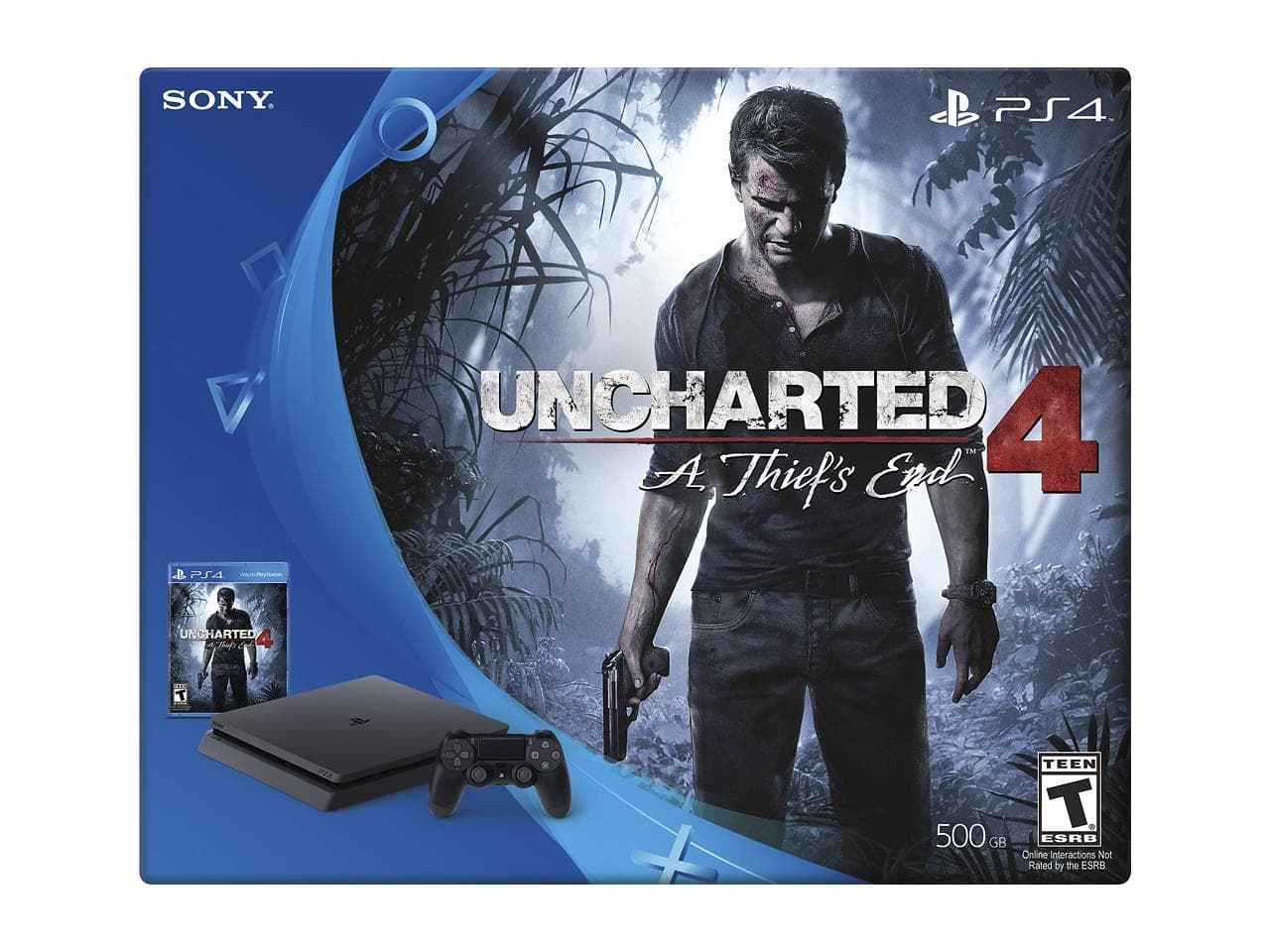 Sony PlayStation 4 Slim 500GB Console - Uncharted 4 Bundle (Refurbished) for $189.99 + Free Shipping @ Newegg