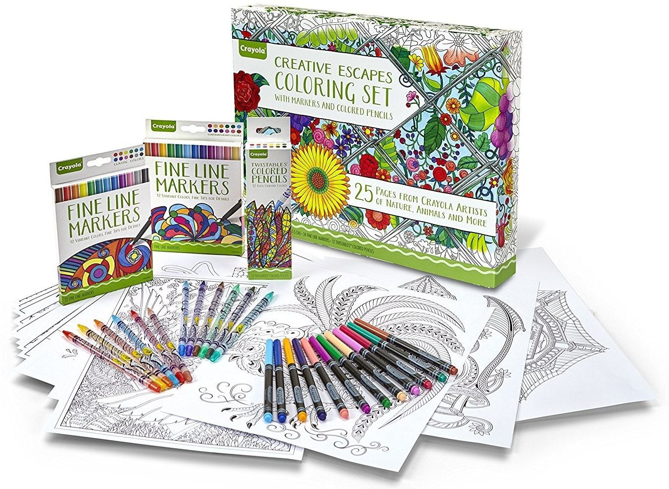Add-On Item: Crayola Adult Coloring Book & Marker Art Activity Set ...