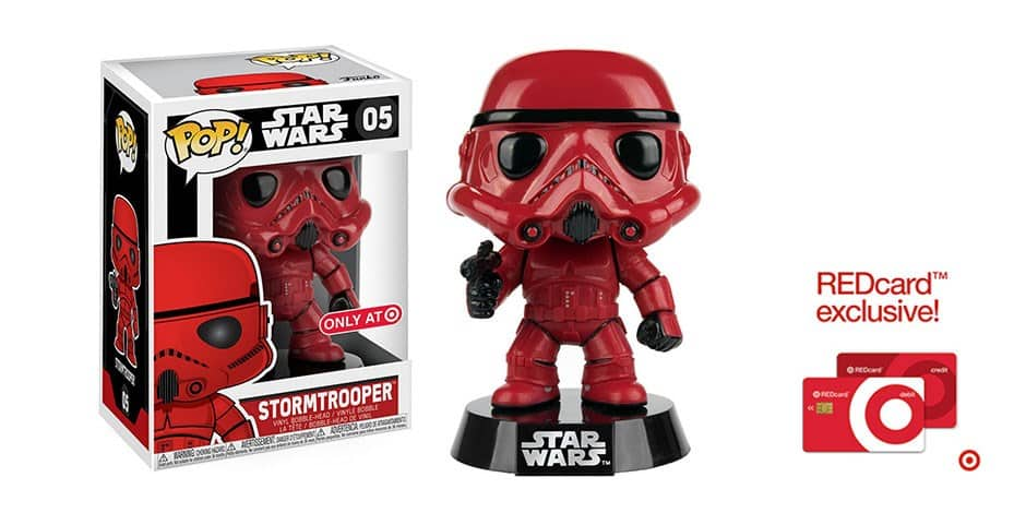 Target REDcard Holders: Exclusive Limited-Edition Funko POP Star Wars: Red Stormtrooper Mini Figure $8.54 + Free Shipping