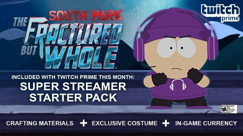 Twitch Prime Members (Amazon Prime): Exclusive Super Streamer Starter Pack for South Park: The Fractured But Whole (Xbox One, PS4, & PC)