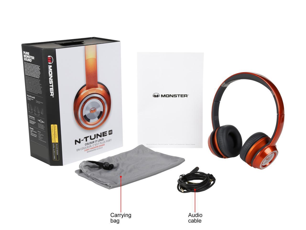 Monster NTUNE On-Ear Headphones (Candy Tangerine Orange) @ Newegg for $16.95 + Free Shipping