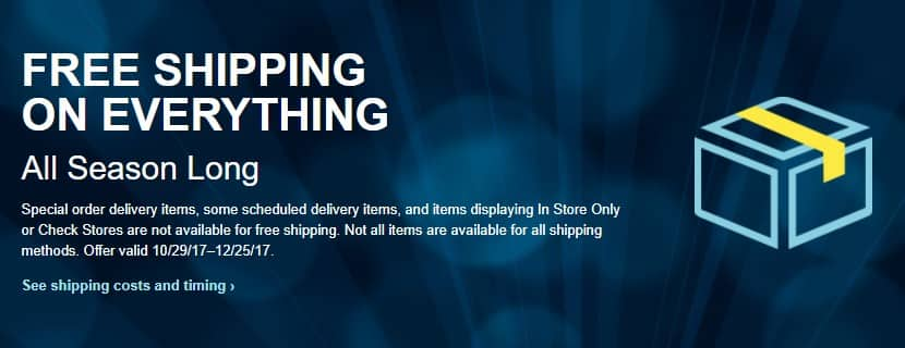 Free Shipping w/ No Minimum on BestBuy.com Orders from October 29 - December 25, 2017 *Some Exclusions
