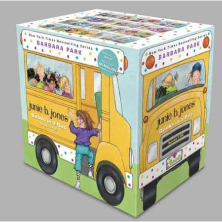 Junie B. Jones: Complete Kindergarten Collection: Books 1-17 + Paper Dolls! $22.33. Books in a Bus (Books 1-28) $32. The Judy Moody Uber-Awesome Collection: Books 1-9 $15.38