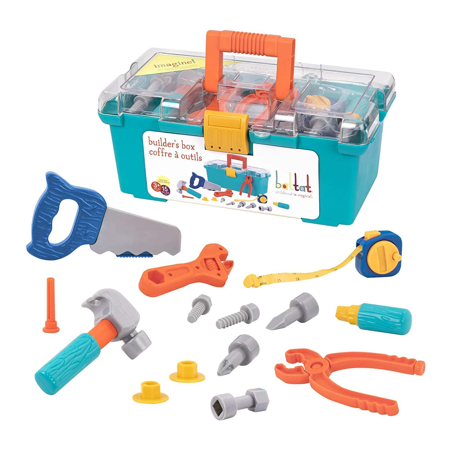 15 Piece Battat Builders Box Contractor Toy Playset for Kids