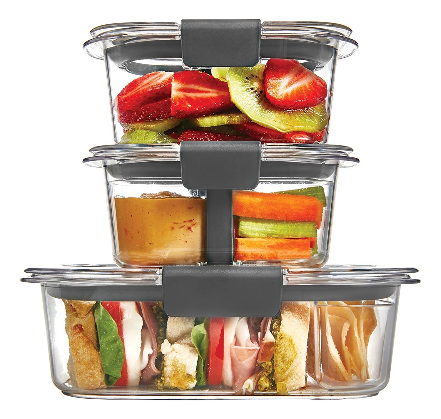 10 Piece Rubbermaid Brilliance Food Storage Containers