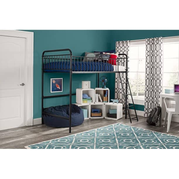Better Homes and Gardens Kelsey Twin Metal Loft Bed (Black) $109.20 + Free Shipping @ Walmart