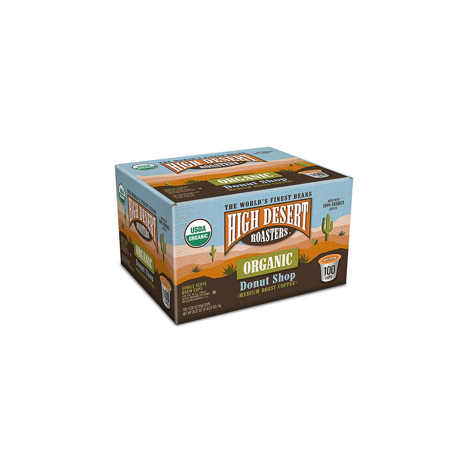 100-Count High Desert Roasters Organic Donut Shop Medium Roast Coffee K-Cups for $22.81 + Free Shipping @ Sam's Club