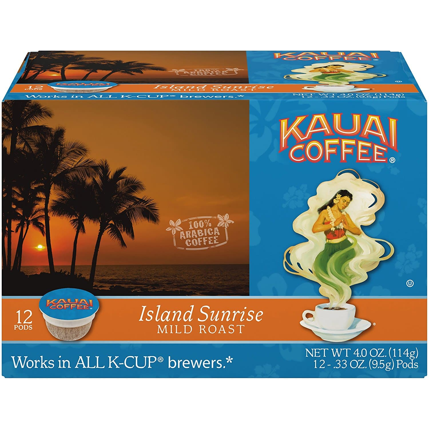 12-Count Kauai Coffee Island Sunrise Mild Roast Single Serve (K-Cup 2.0 Compatible) for $3.46 w/ S&S. Free Shipping