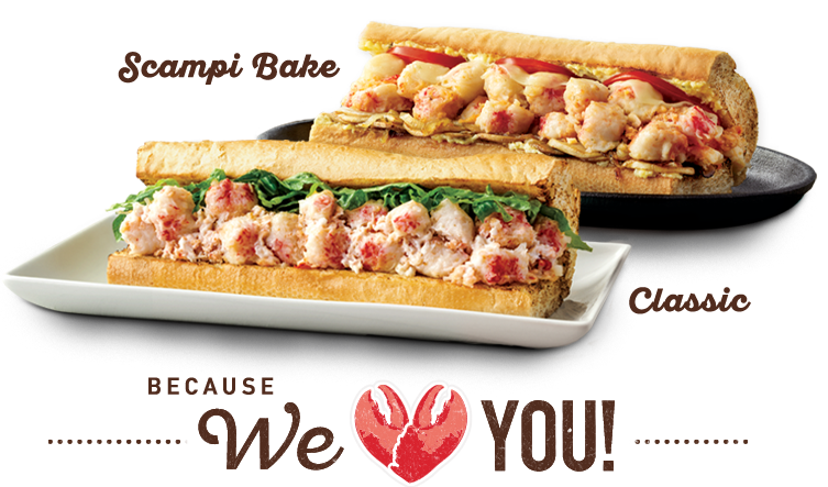 "Quiznos - Free 8"" Lobster & Seafood Sub w/ any purchase via Toasty Points App"