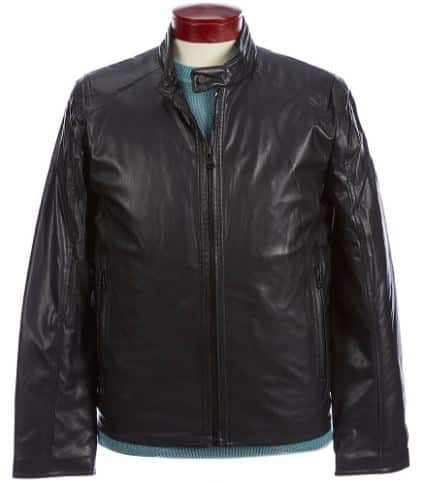 Men S Outerwear Sale Andrew Marc Faux Lambskin Motorcycle Jacket