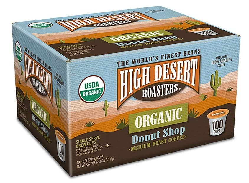 100-Count High Desert Roasters Organic Donut Shop Medium Roast Coffee K-Cups $22.81 + Free Shipping for Sam's Club Plus Members