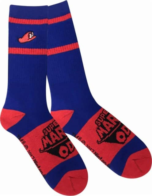 Nintendo Mario Odyssey Cappy Socks (Blue) for $1.99 + Free Store Pickup @ Best Buy