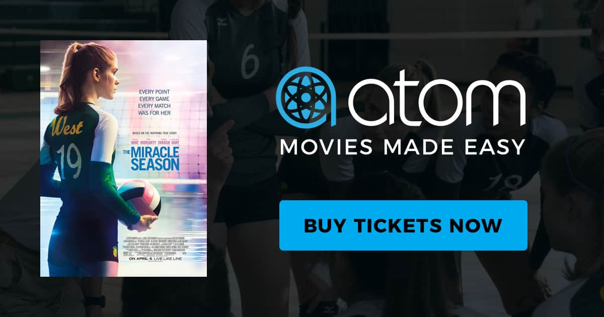 Atom Tickets - $5 Ticket for The Miracle Season when you invite 3 friends via app.